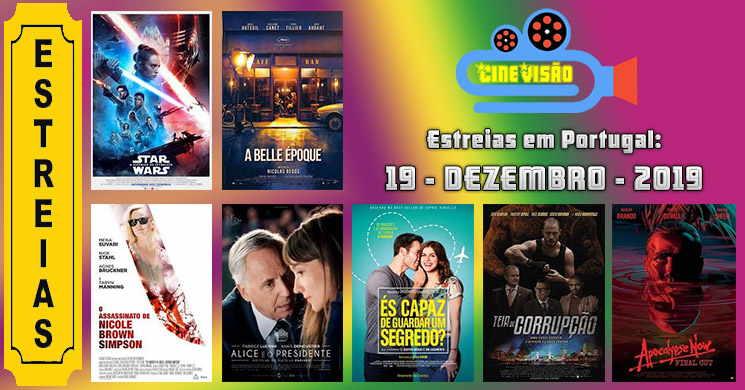 Estreias de filmes nos cinemas portugueses: 19 de dezembro de 2019