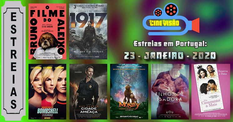Estreias de filmes nos cinemas portugueses: 23 de janeiro de 2020