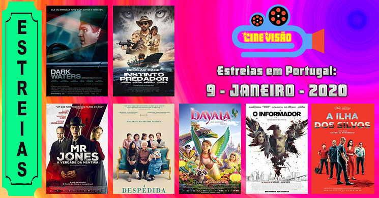 Estreias da semana nos cinemas portugueses: 9 de janeiro de 2020