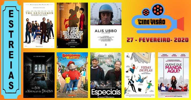 Estreias de filmes nos cinemas portugueses: 27 de fevereiro de 2020