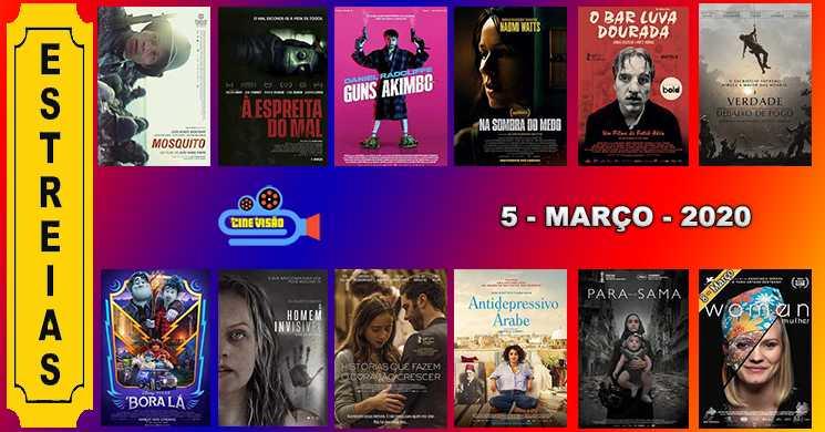 Estreias de filmes nos cinemas portugueses: 5 de março de 2020