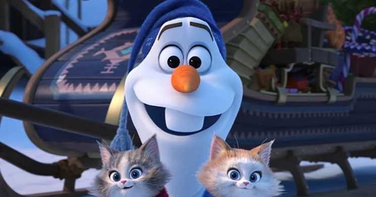 At Home With Olaf curtas da Disney