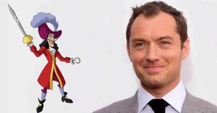 Jude Law vai ser Capitão Gancho em Peter Pan
