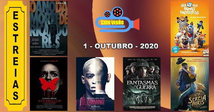 Estreias nos cinemas portugueses: 1 de outubro de 2020