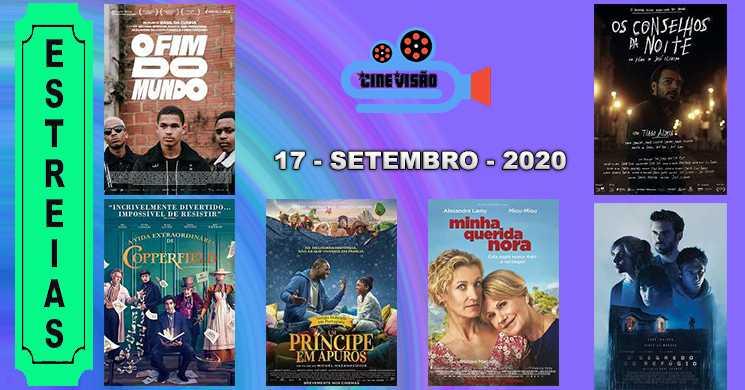 Estreias nos cinemas portugueses: 17 de setembro de 2020