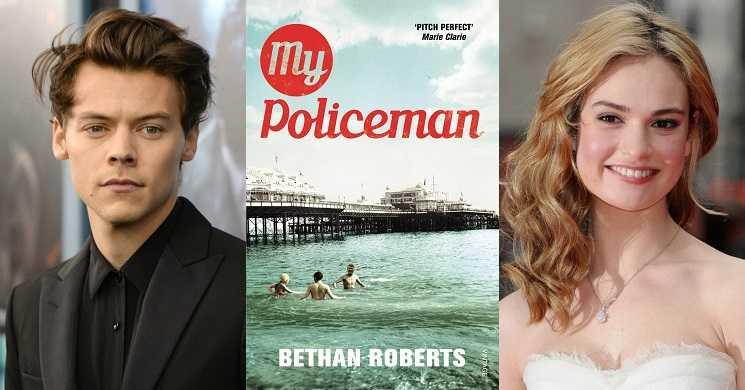 Harry Styles e Lily James no filme My Policeman