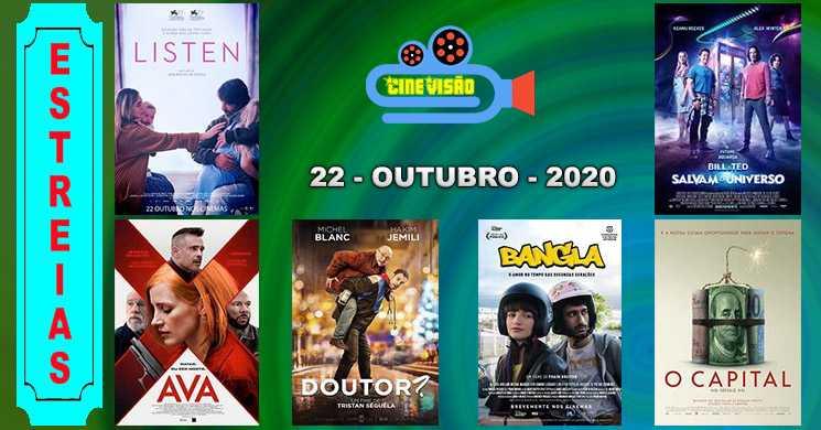 Estreias nos cinemas portugueses: 22 de outubro de 2020