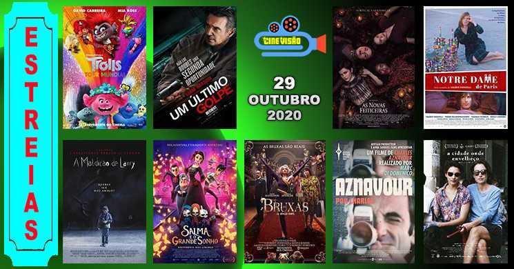 Estreias nos cinemas portugueses: 29 de outubro de 2020