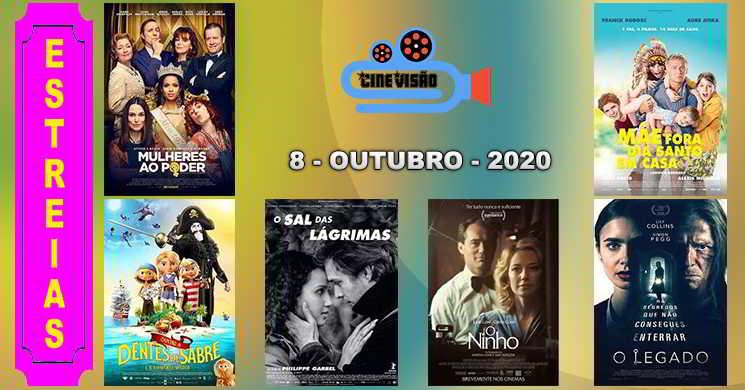 Estreias nos cinemas portugueses: 8 de outubro de 2020