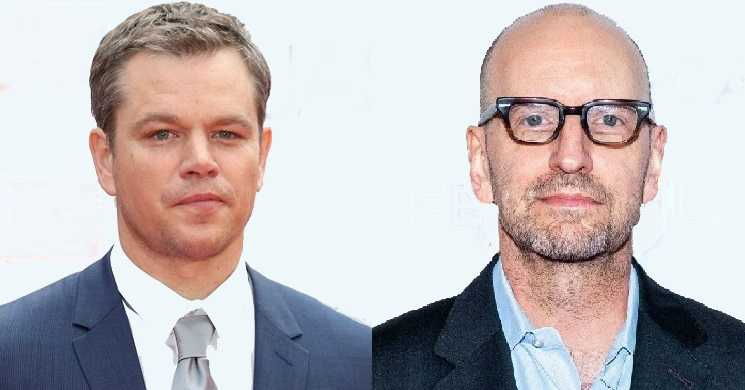Matt Damon e Steven Soderbergh no filme No Sudden Move