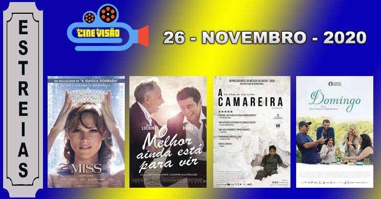 Estreias nos cinemas portugueses: 26 de novembro de 2020