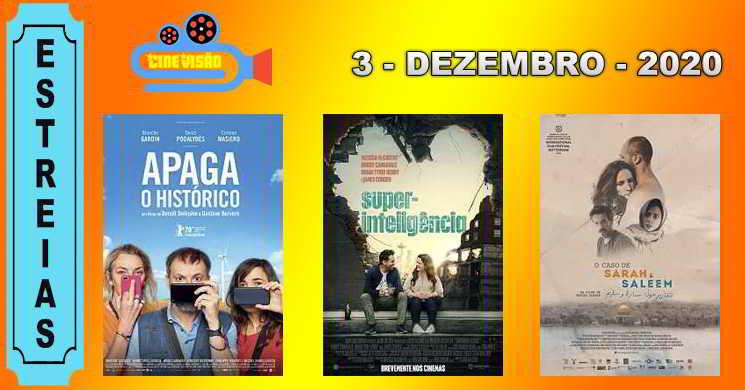 Estreias nos cinemas portugueses: 3 de dezembro de 2020