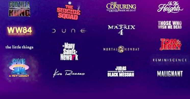 Filmes da Warner Bros. terão estreia simultânea nos cinemas e HBO Max
