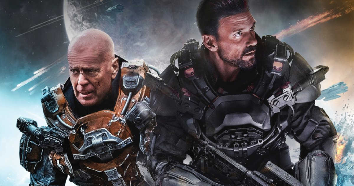 Bruce Willis e Frank Grillo combatem alienígenas no trailer de