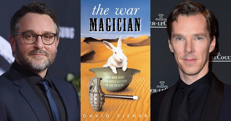 Colin Trevorrow e Benedict Cumberbatch no filme The War Magician