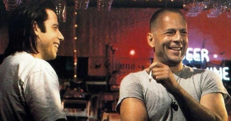 Bruce Willis e John Travolta no filme Paradise City