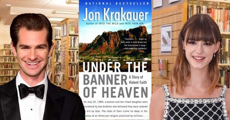 Andrew Garfield e Daisy Edgar-Jones na minisserie Under the Banner of Heaven
