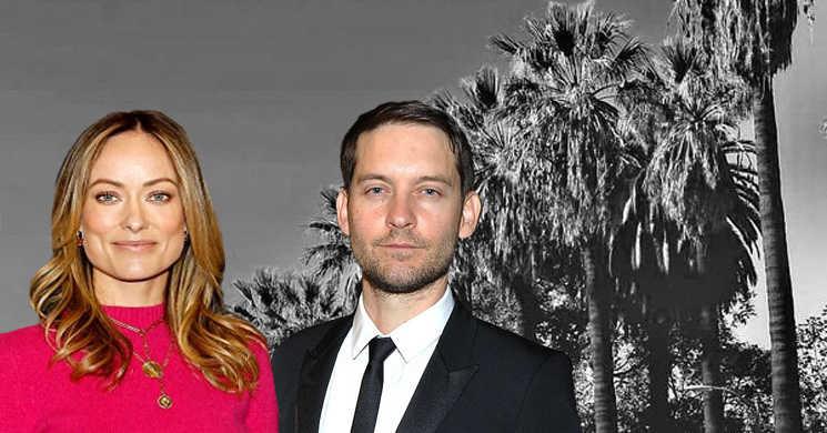 Olivia Wilde e Tobey Maguire no filme Babylon