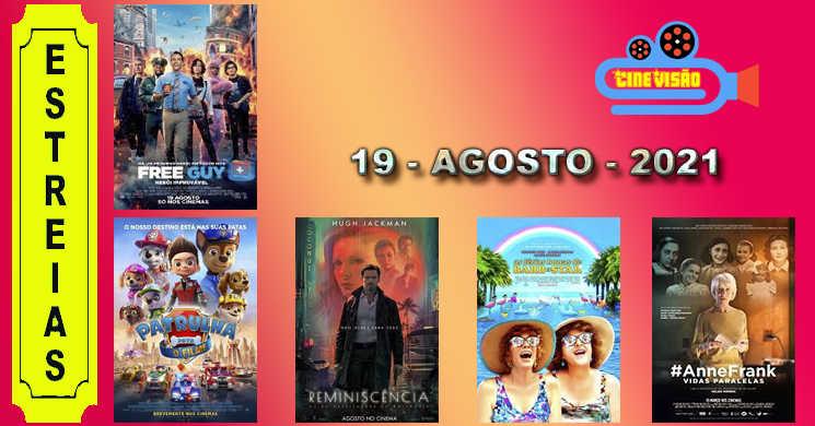Conheça os filmes que entram em cartaz nos cinemas: 19 de agosto