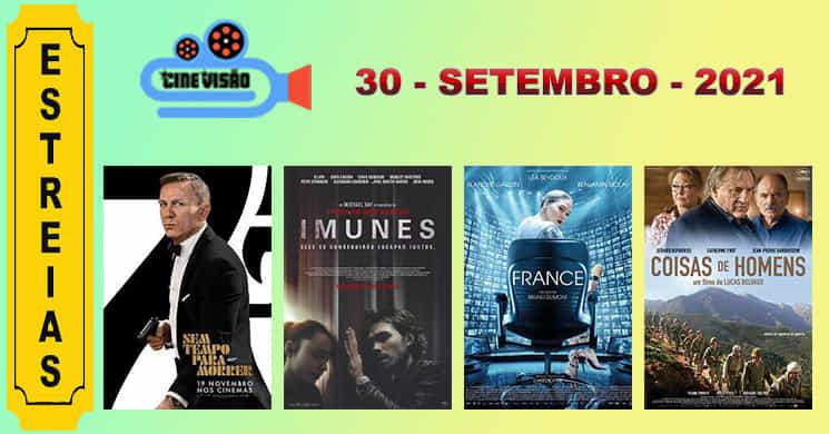 Últimas estreias deste mês de setembro. Conheça melhor os 4 filmes