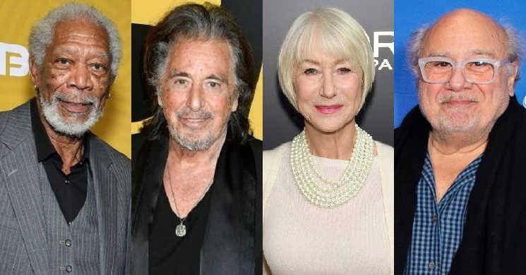 Morgan Freeman, Al Pacino, Helen Mirren e Danny DeVito no filme Sniff